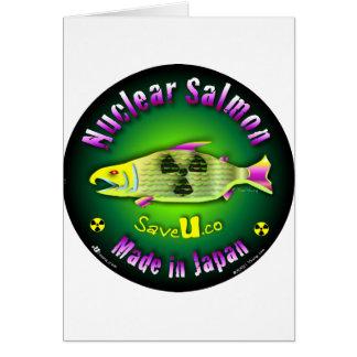 Nuclear Salmon Greeting Card