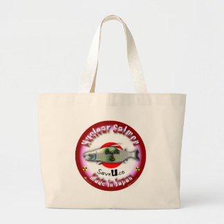 Nuclear Salmon red Canvas Bag