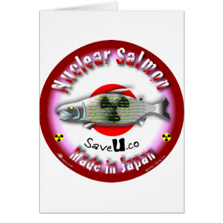 Nuclear Salmon red Greeting Card