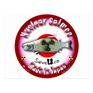 Nuclear Salmon red Postcard