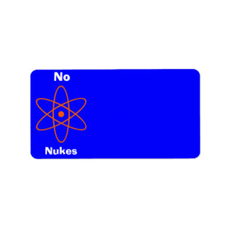 Nuclear Sign Address Label