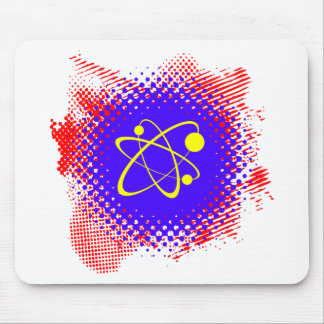 Nuclear Splash Grunge Mouse Pads