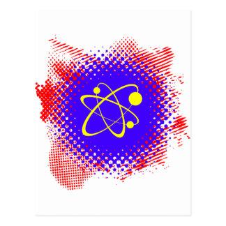 Nuclear Splash Grunge Postcard