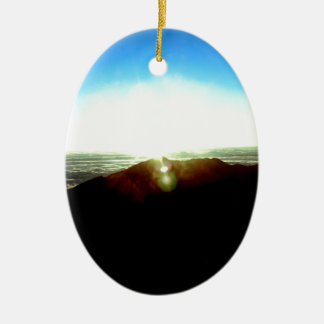 Nuclear Sunrise Ceramic Ornament