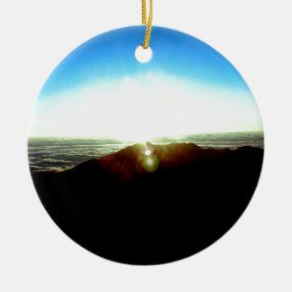 Nuclear Sunrise Ceramic Ornament
