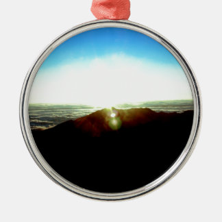 Nuclear Sunrise Metal Ornament