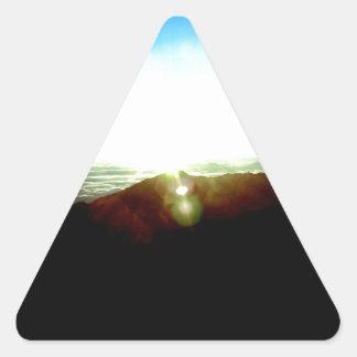 Nuclear Sunrise Triangle Sticker