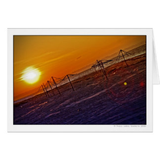 Nuclear Sunset Greeting Card
