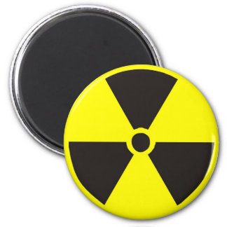 Nuclear Symbol 6 Cm Round Magnet