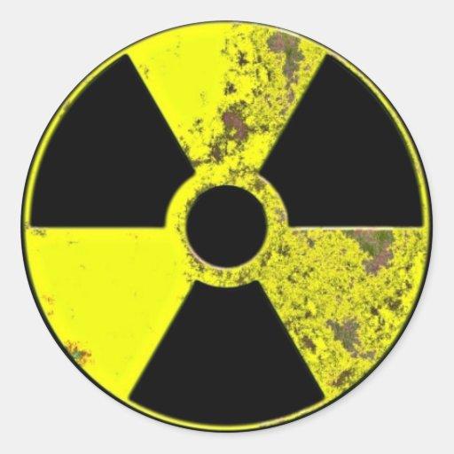 Nuclear Symbol Classic Round Sticker