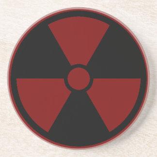 Nuclear Symbol Coaster Sandstone