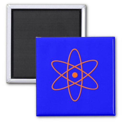 Nuclear Symbol Fridge Magnet