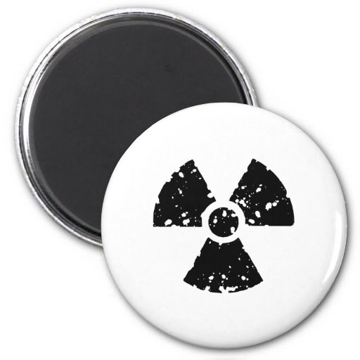 Nuclear Symbol Refrigerator Magnets