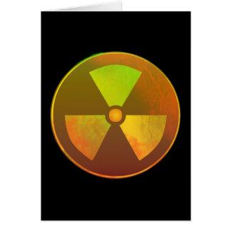 Nuclear Symbol Radioactive Glow Greeting Card