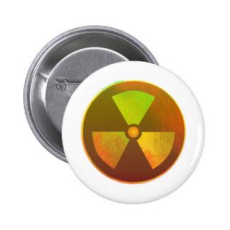 Nuclear Symbol Radioactive Glow Pins