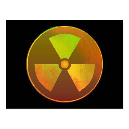 Nuclear Symbol Radioactive Glow Postcards