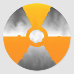 Nuclear Symbol Round Stickers