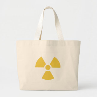 Nuclear symbol yellow canvas bags
