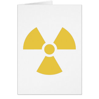 Nuclear symbol yellow greeting card