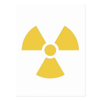 Nuclear symbol yellow postcard