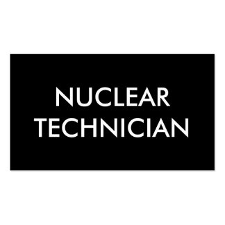 nuclear technician pack of standard business cards