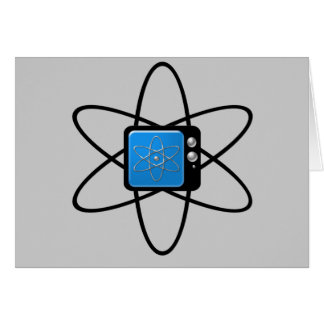 Nuclear Television Greeting Card