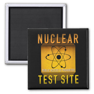 Nuclear Test Site Retro Atomic Age Grunge : Square Magnet