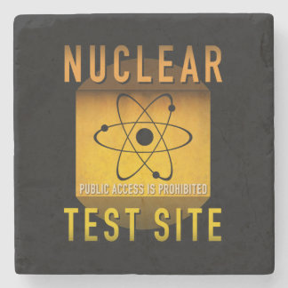 Nuclear Test Site Retro Atomic Age Grunge : Stone Coaster