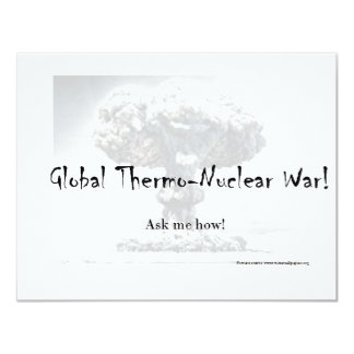 Nuclear War Debate Products Personalized Invitation