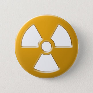 Nuclear Warning 6 Cm Round Badge