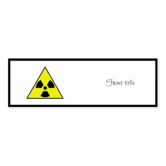 Nuclear Warning Triangle Pack Of Skinny Business Cards