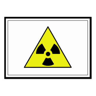 Nuclear Warning Triangle Pack Of Chubby Business Cards