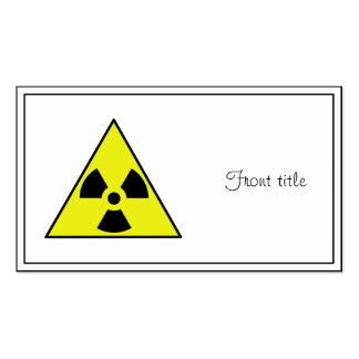 Nuclear Warning Triangle Pack Of Standard Business Cards