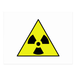 Nuclear Warning Triangle Post Cards
