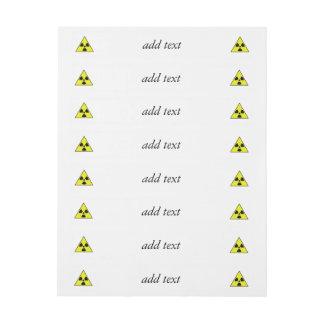 Nuclear Warning Triangle Wraparound Address Label