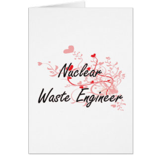 Nuclear Waste Engineer Artistic Job Design with He Greeting Card