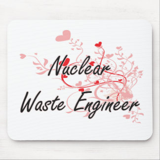 Nuclear Waste Engineer Artistic Job Design with He Mouse Pad