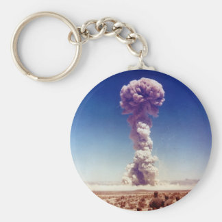 Nuclear Weapons Test Operation Buster-Jangle 1951 Basic Round Button Key Ring