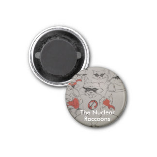 nuclearraccoonss, The Nuclear, Raccoons 3 Cm Round Magnet