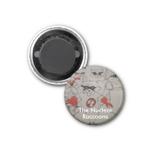 nuclearraccoonss, The Nuclear, Raccoons Refrigerator Magnets