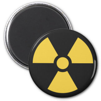 NuclearSymbol 6 Cm Round Magnet