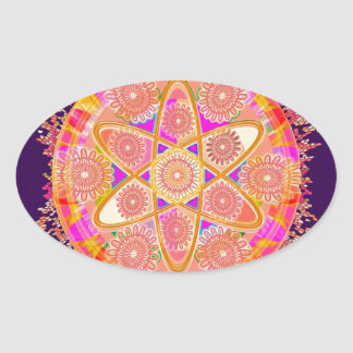 NUCLEUS - Beautiful CHAKRAs Oval Sticker