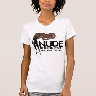 Nude In Progress / Black Skin / Funny Women's T-Sh T-Shirt