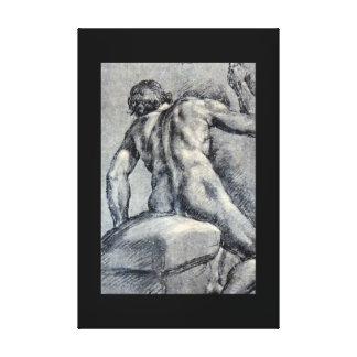 Nude Man, Seen From_Studies of the Masters Canvas Print