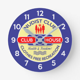 Nudist Club House Clock