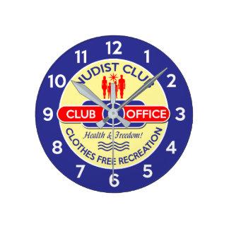 Nudist Club Office Clock