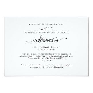 NUESTRA BODA Editable Spanish wedding info card