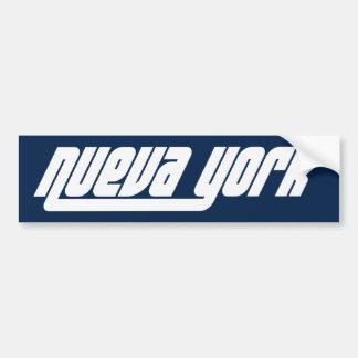 Nueva York NYC bumper sticker