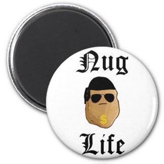 Nug Life 6 Cm Round Magnet