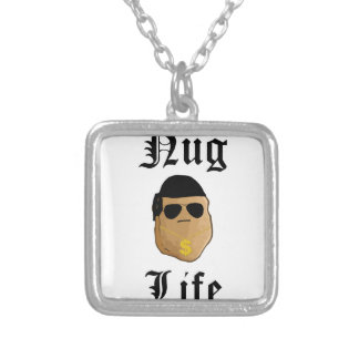 Nug Life Silver Plated Necklace